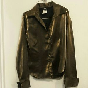 Beautiful simmering gold fitted blouse